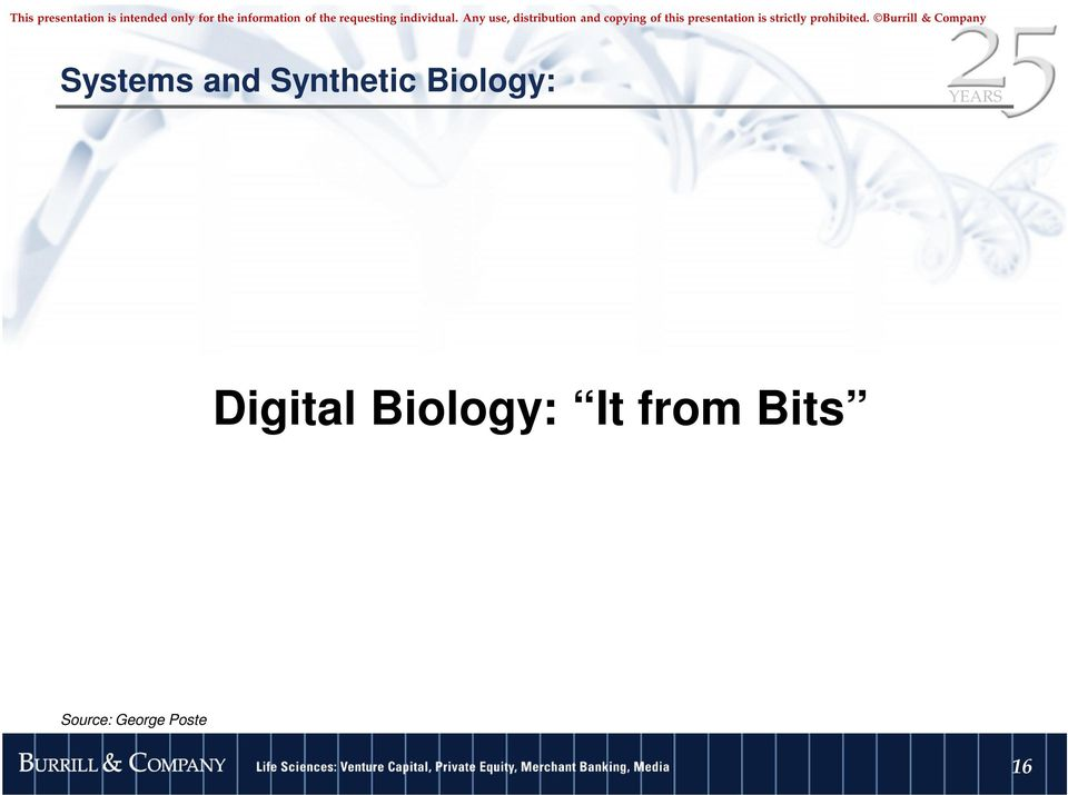Digital Biology: It