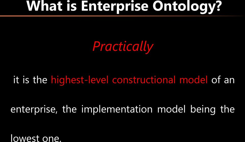 constructional model of an