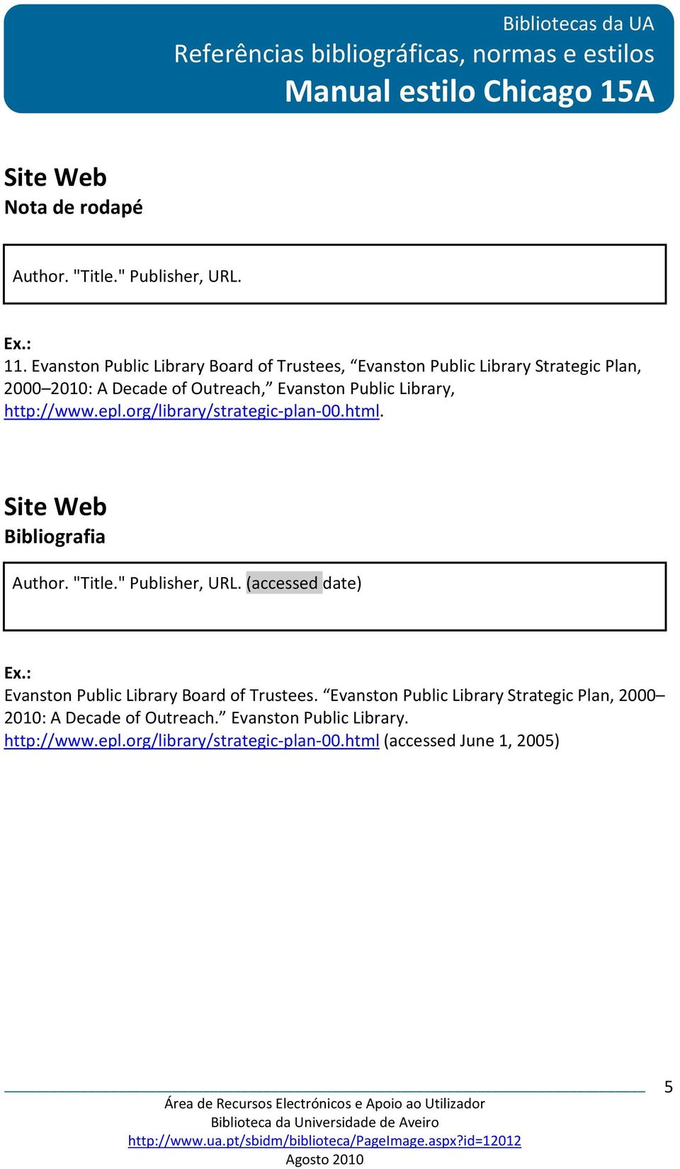 "Public Library, http://www.epl.org/library/strategic-plan-00.html. Site Web Author. ""Title."" Publisher, URL."