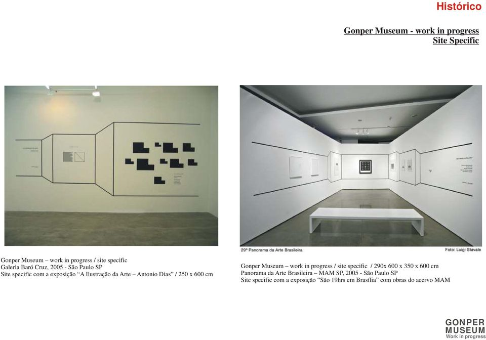 600 cm Gonper Museum work in progress / site specific / 290x 600 x 350 x 600 cm Panorama da Arte