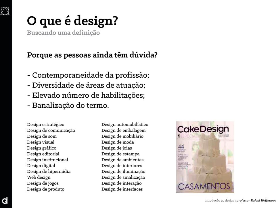 Design estratégico Design de comunicação Design de som Design visual Design gráfico Design editorial Design institucional Design digital Design de