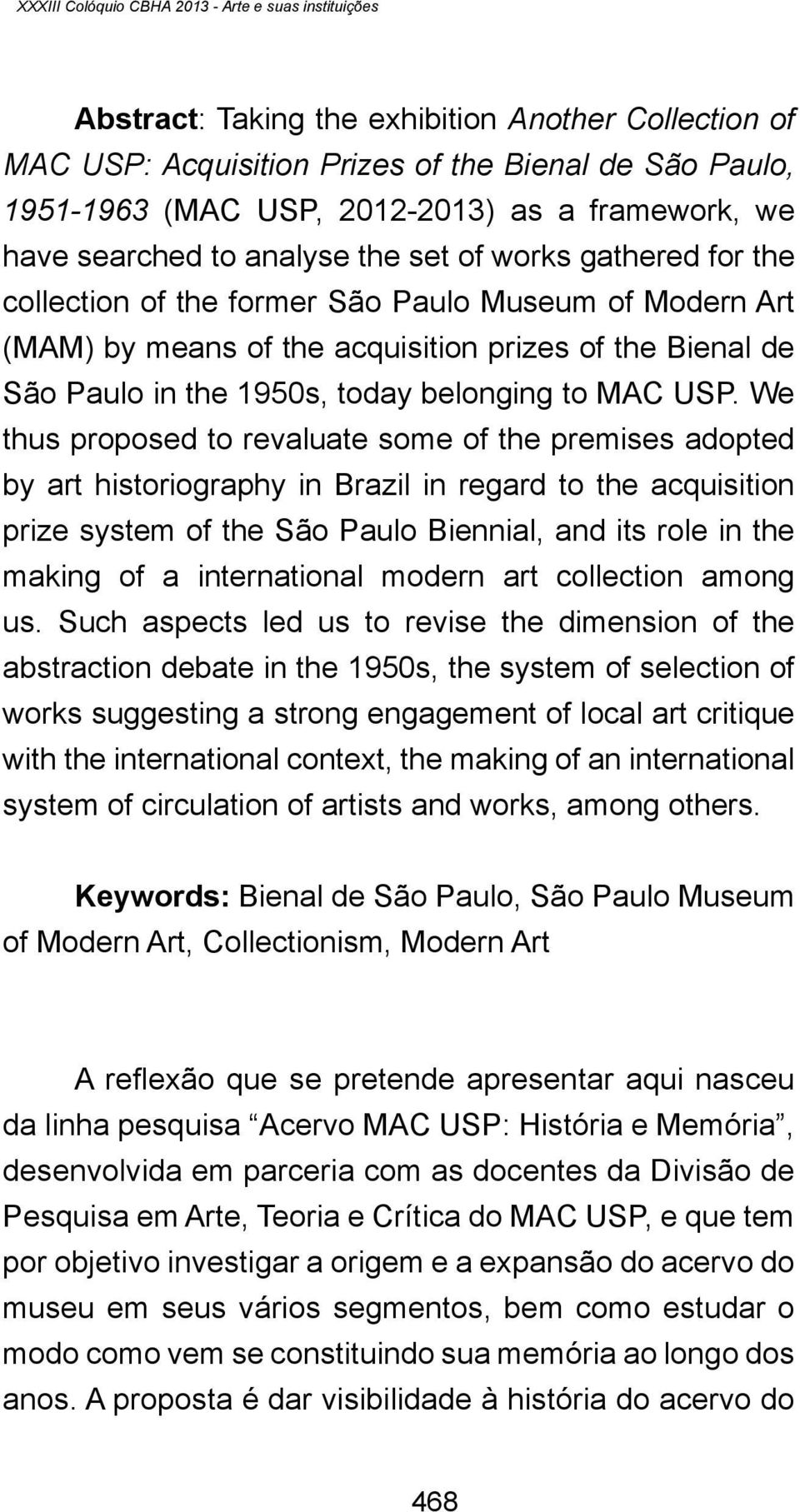 the 1950s, today belonging to MAC USP.