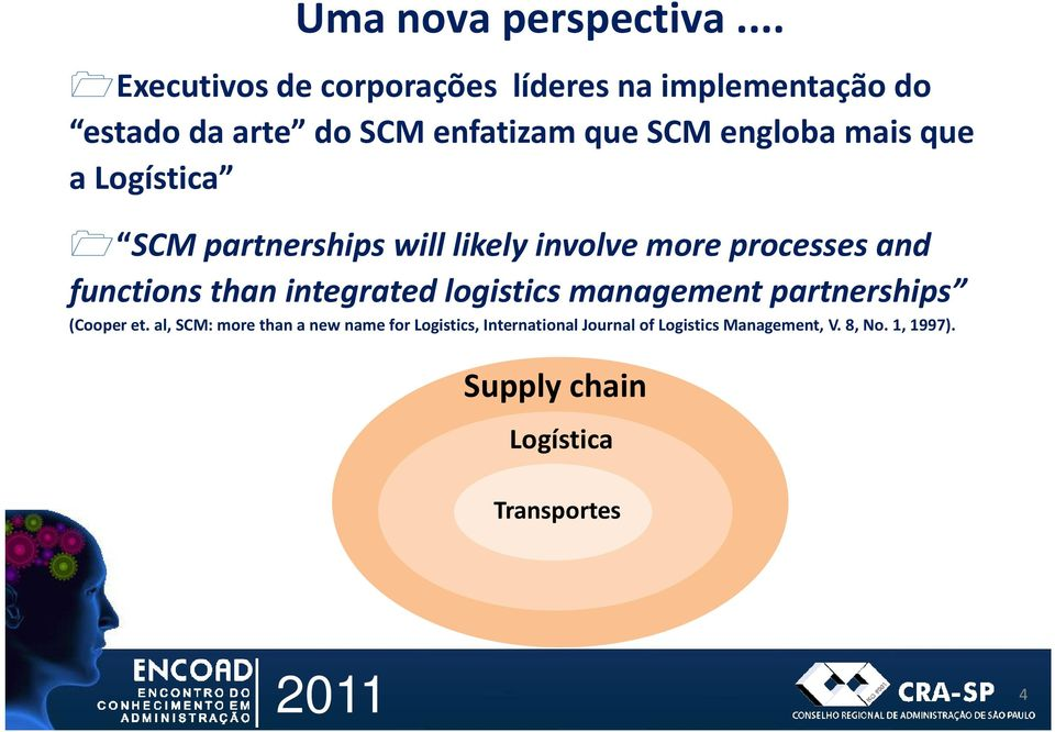 mais que a Logística SCM partnerships will likely involve more processes and functions than integrated