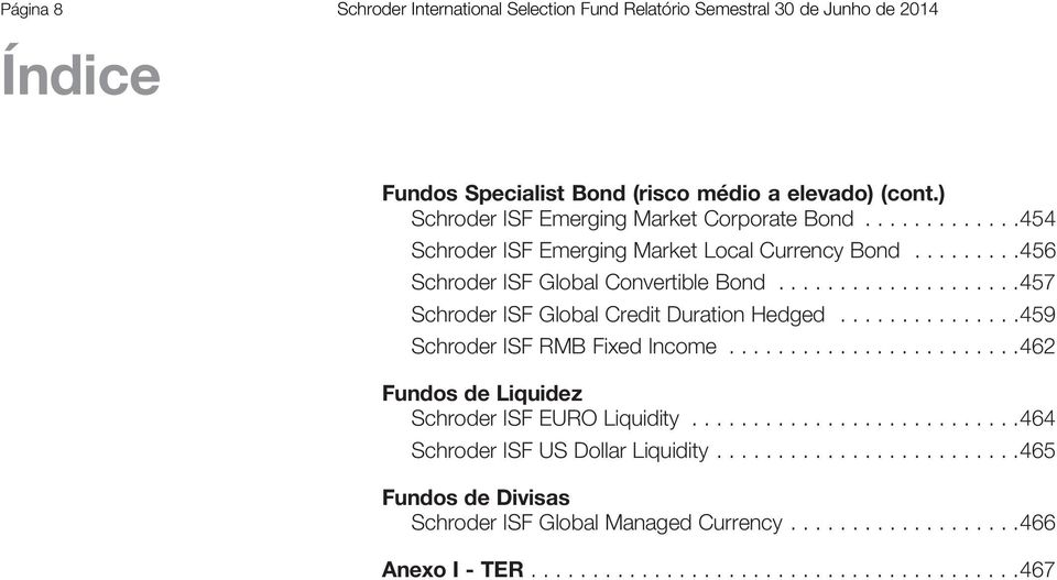 ...................457 Global Credit Duration Hedged...............459 RMB Fixed Income........................462 Fundos Liquiz EURO Liquidity.