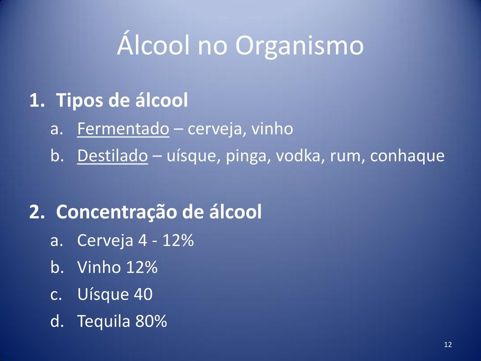 Destilado uísque, pinga, vodka, rum, conhaque 2.