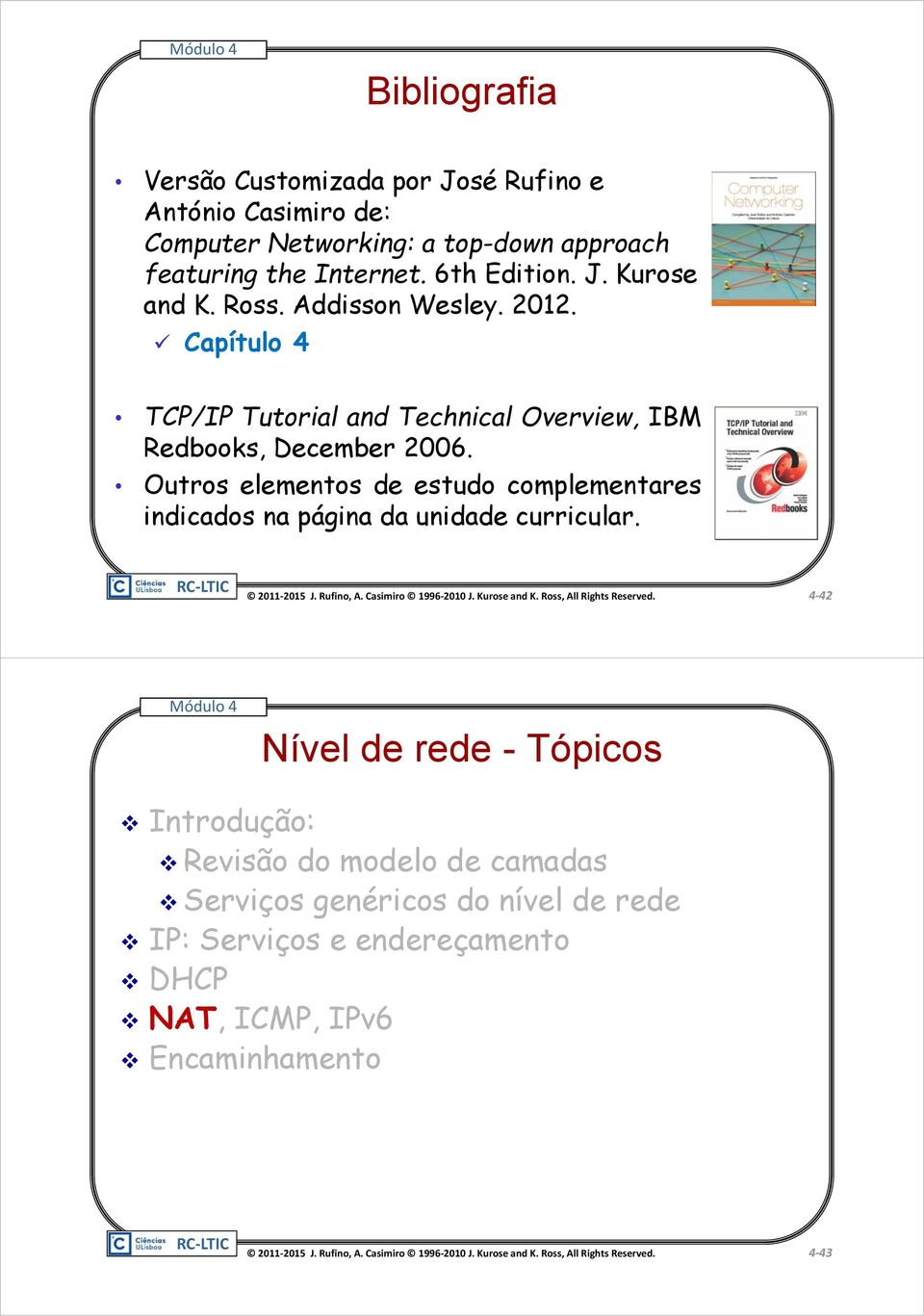 Capítulo 4 TCP/IP Tutorial and Technical Overview, IBM Redbooks, December 2006.