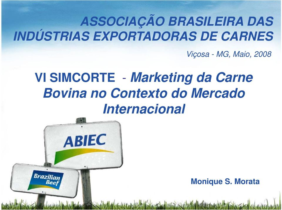 2008 VI SIMCORTE - Marketing da Carne Bovina