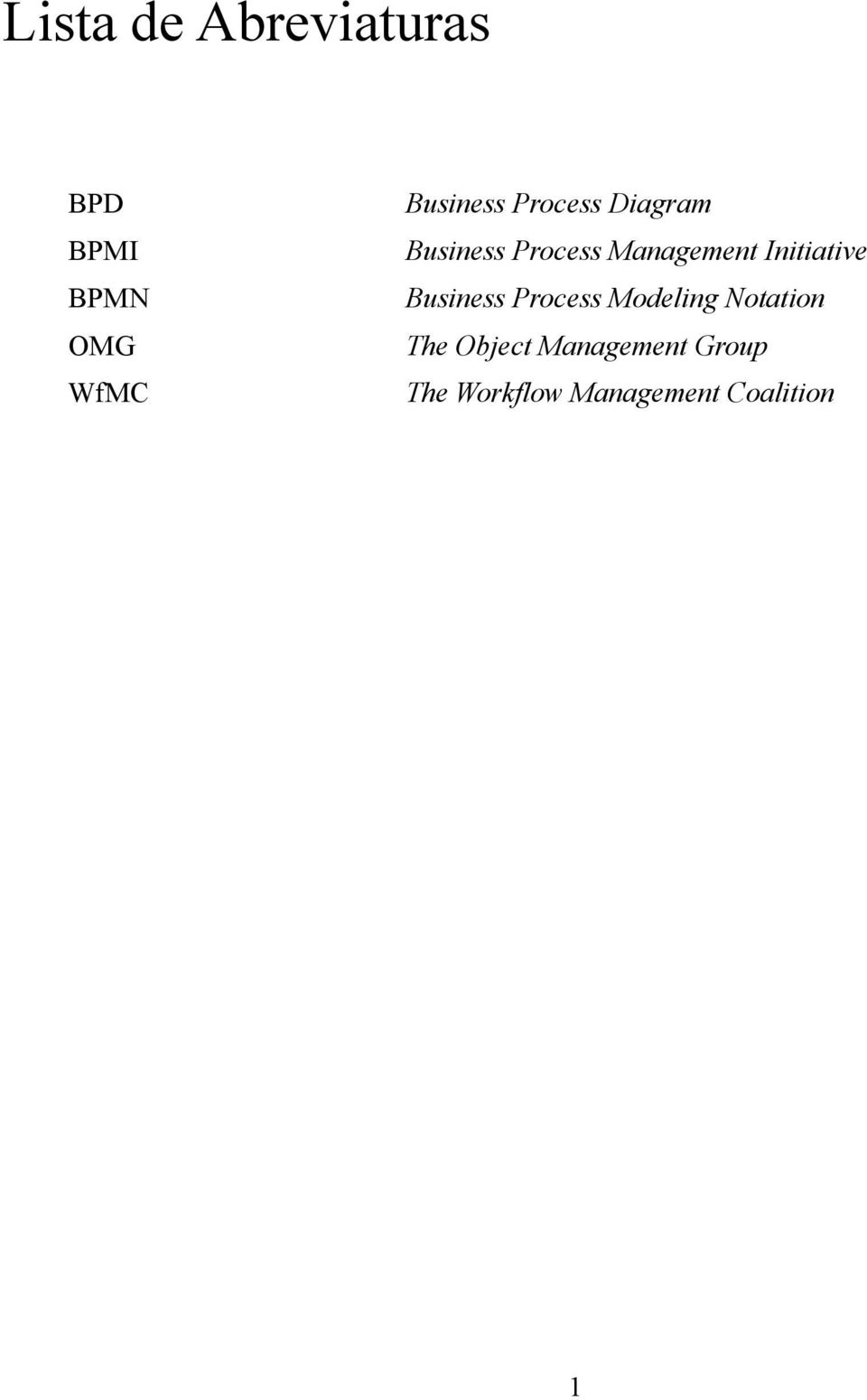 Management Initiative Business Process Modeling