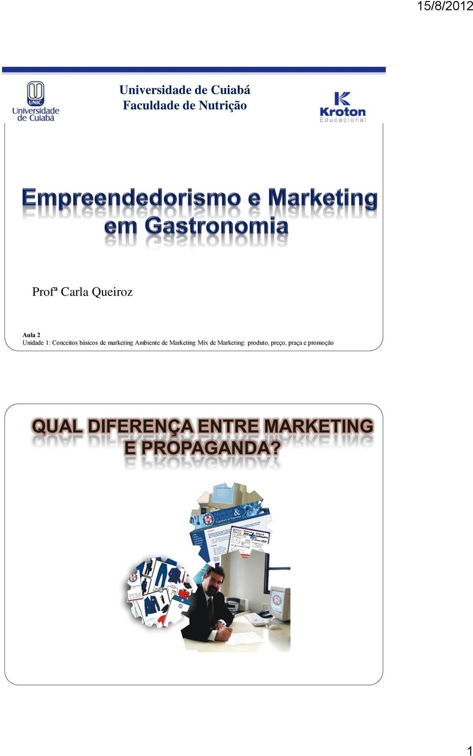 Conceitos básicos de marketing Ambiente de
