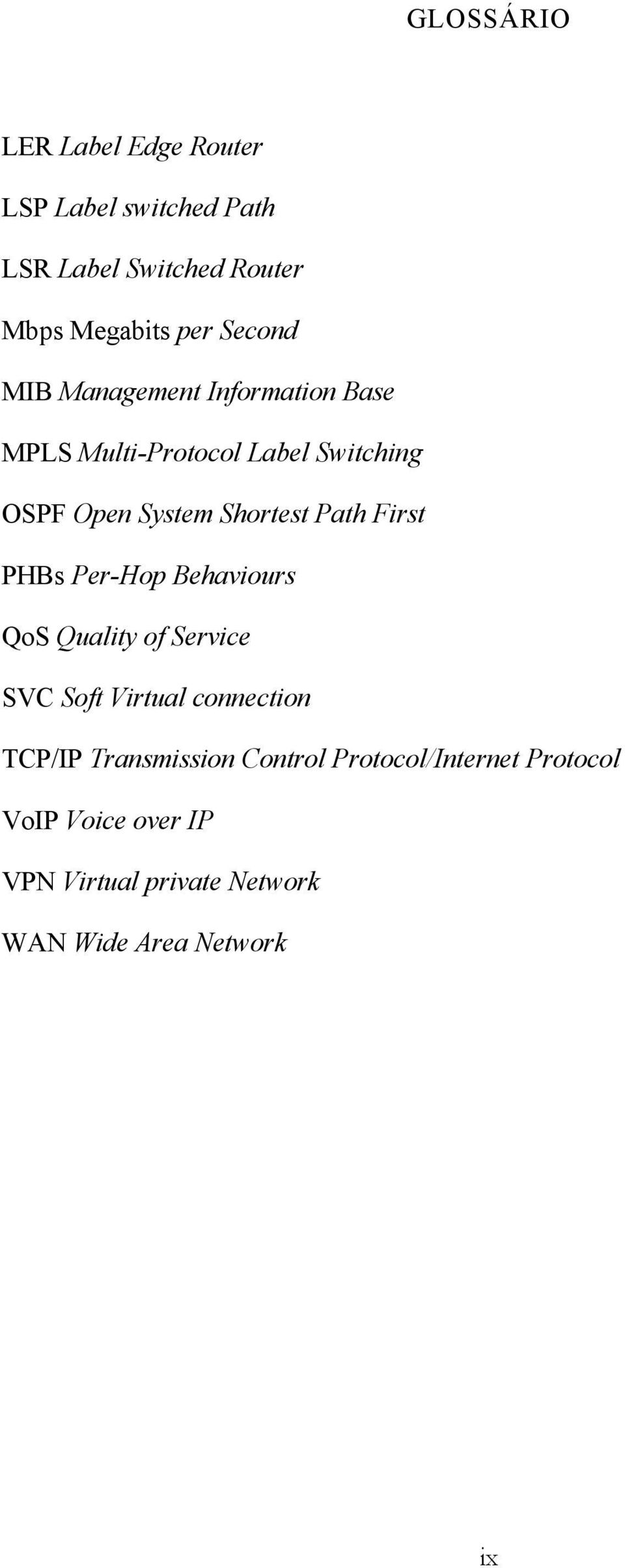 Path First PHBs Per-Hop Behaviours QoS Quality of Service SVC Soft Virtual connection TCP/IP