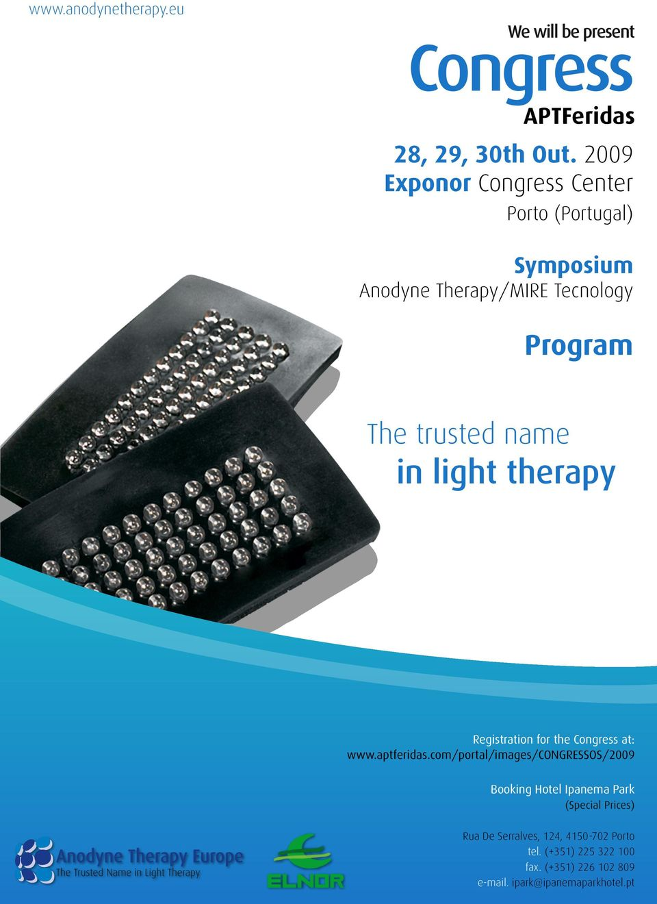 name in light therapy Registration for the at: www.aptferidas.