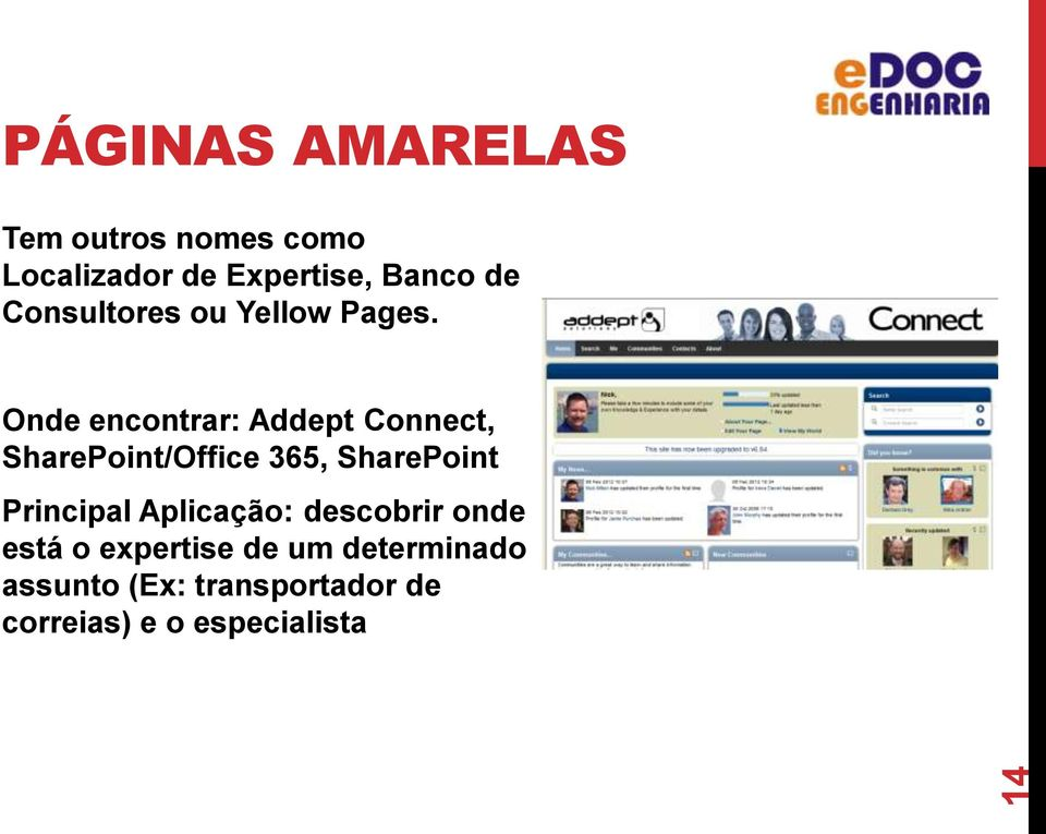 Onde encontrar: Addept Connect, SharePoint/Office 365, SharePoint