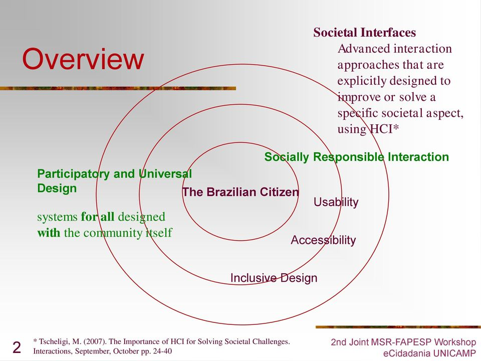Brazilian Citizen Usability systems for all designed with the community itself Accessibility Inclusive Design 2 *
