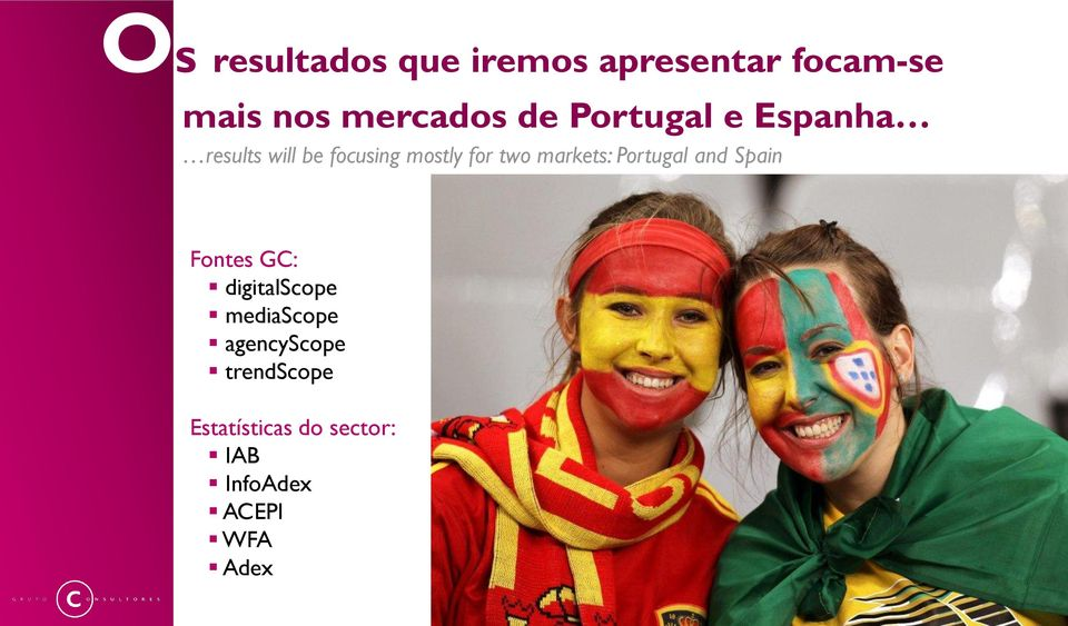 markets: Portugal and Spain Fontes GC: digitalscope mediascope