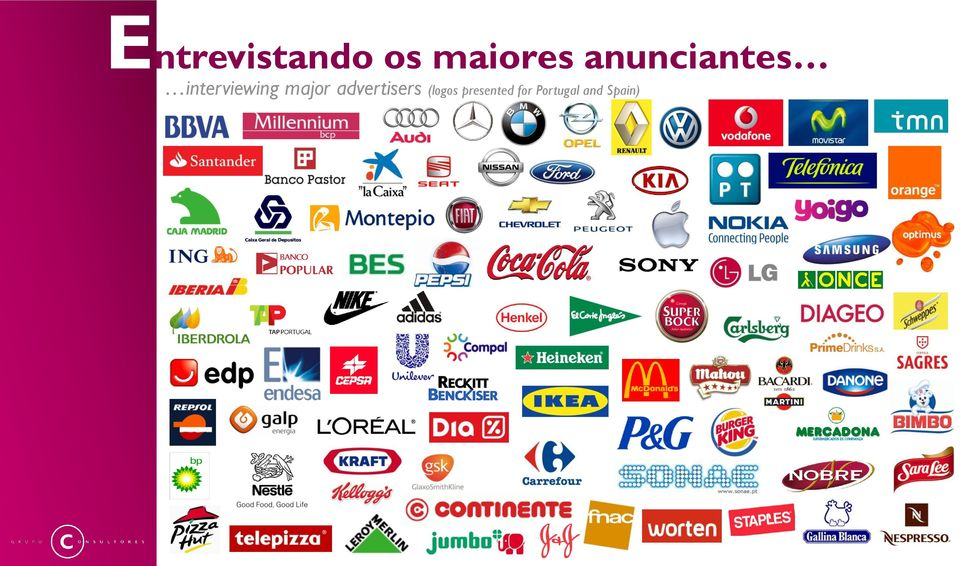 major advertisers (logos