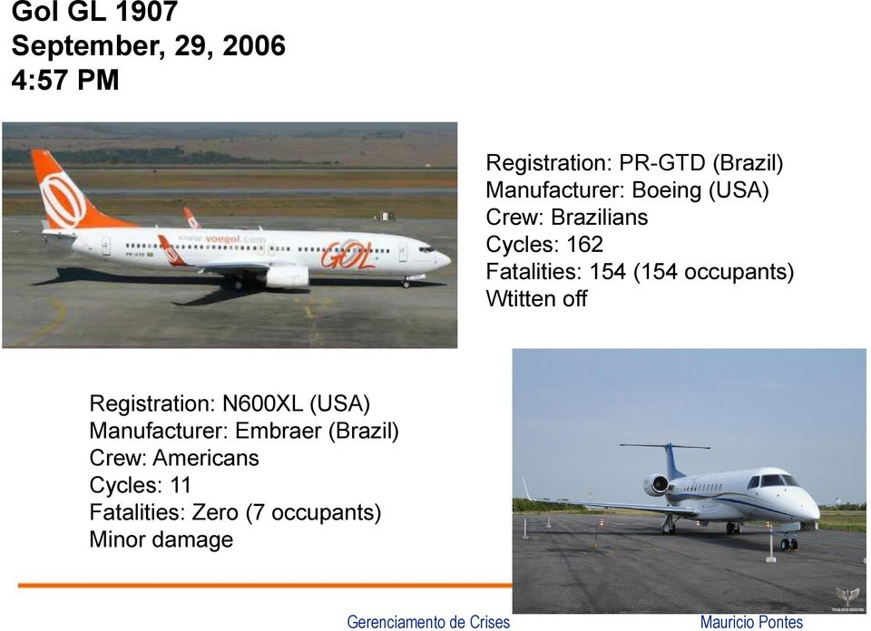 (154 occupants) Wtitten off Registration: N600XL (USA) Manufacturer:
