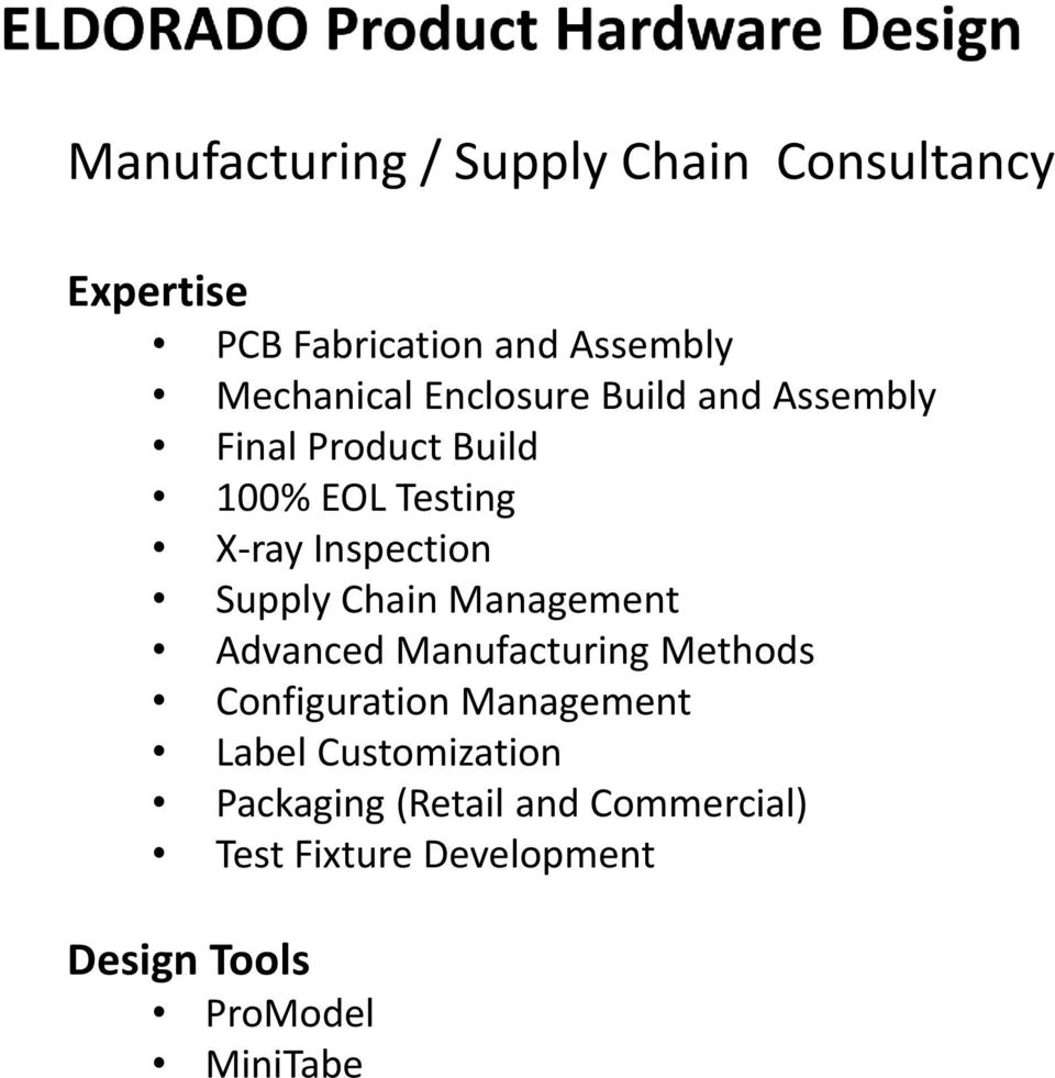 Chain Management Advanced Manufacturing Methods Configuration Management Label