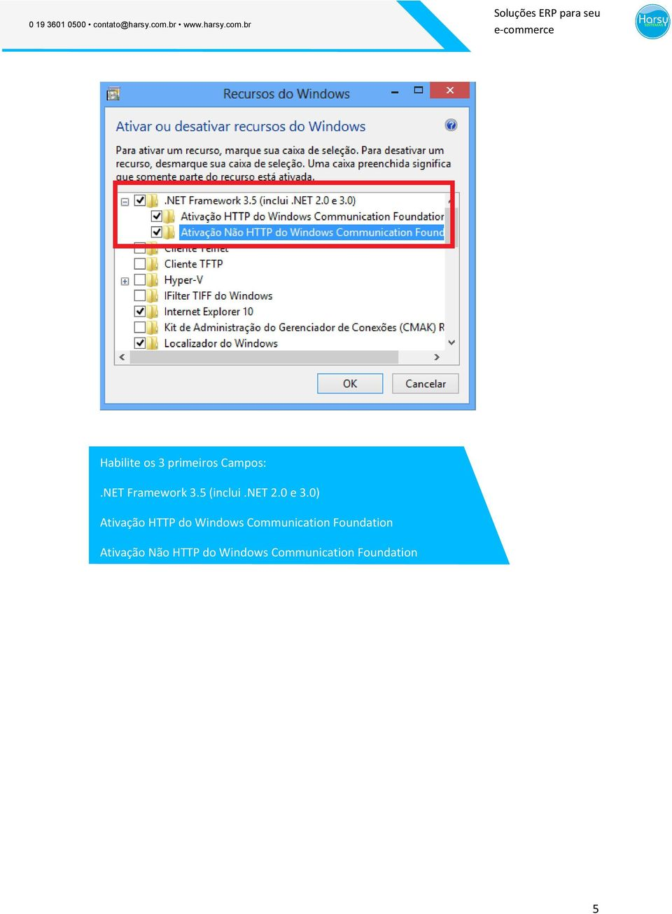 0) Ativação HTTP do Windows Communication