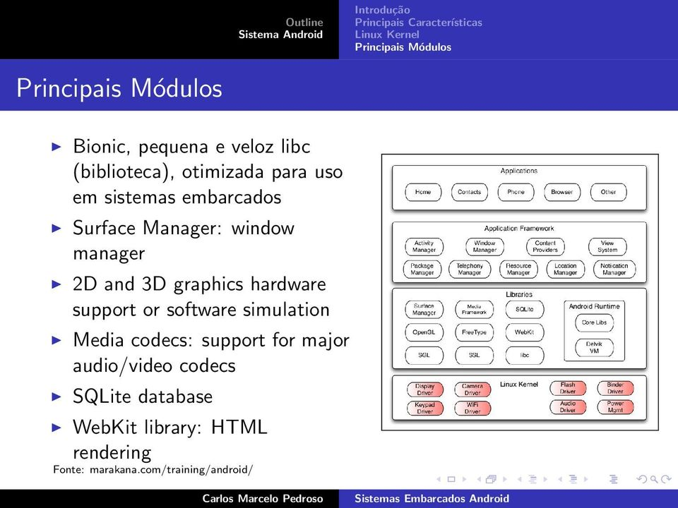 support or software simulation Media codecs: support for major audio/video