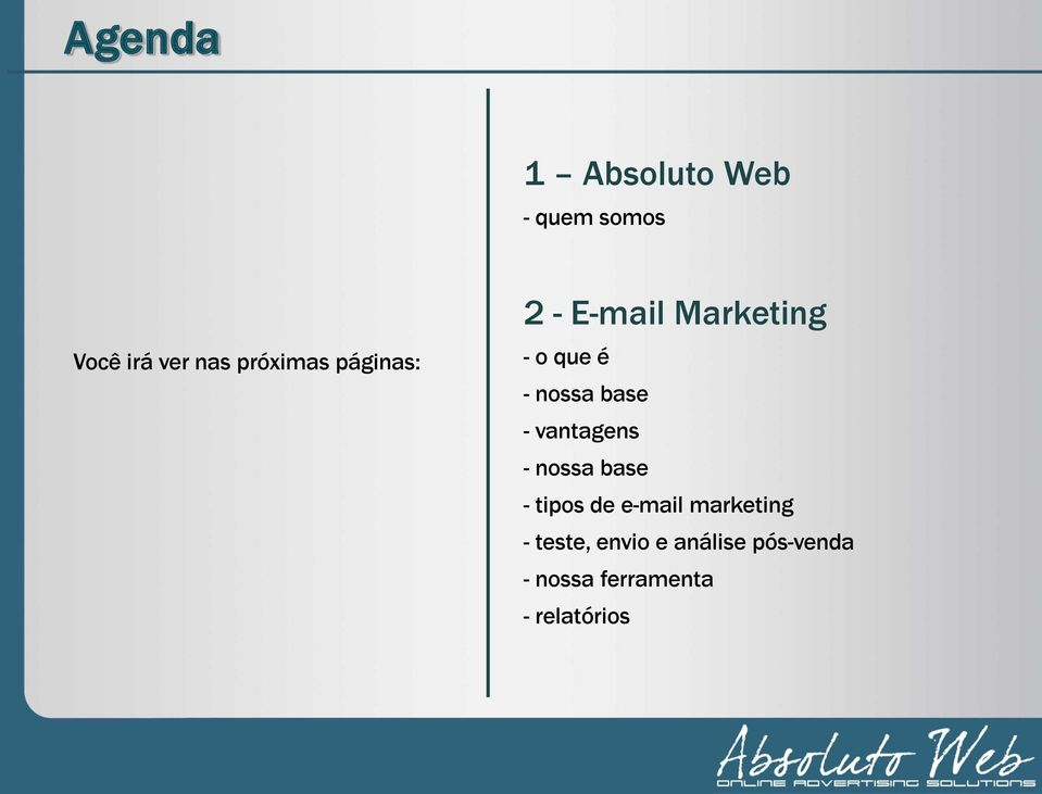 base - vantagens - nossa base - tipos de e-mail marketing