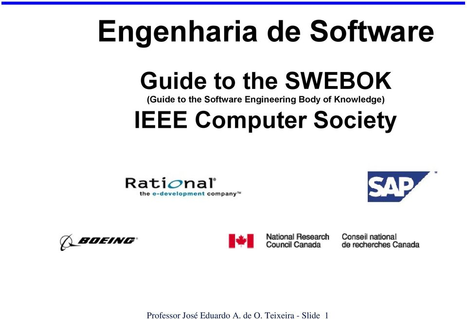 Knowledge) IEEE Computer Society Professor