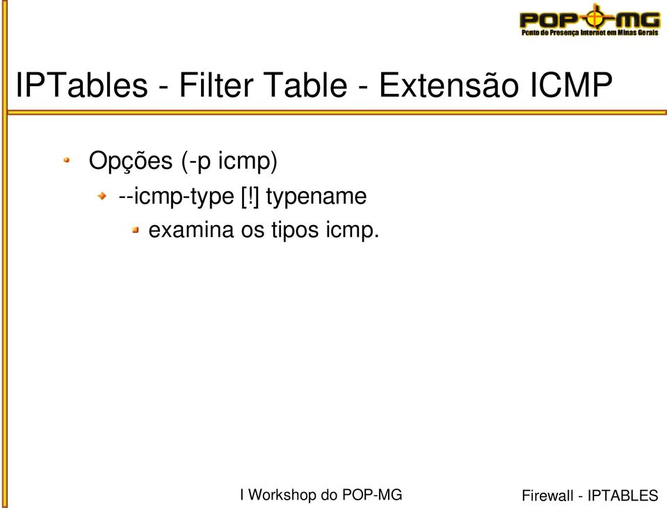 icmp) icmp type [!