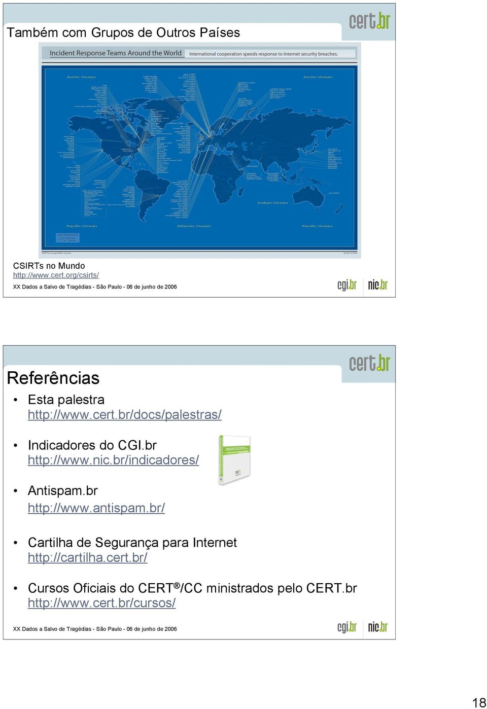 br http://www.nic.br/indicadores/ Antispam.br http://www.antispam.