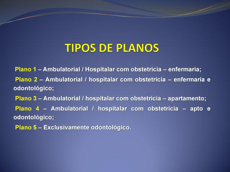 Ambulatorial / hospitalar com obstetrícia apartamento; Plano 4 Ambulatorial /