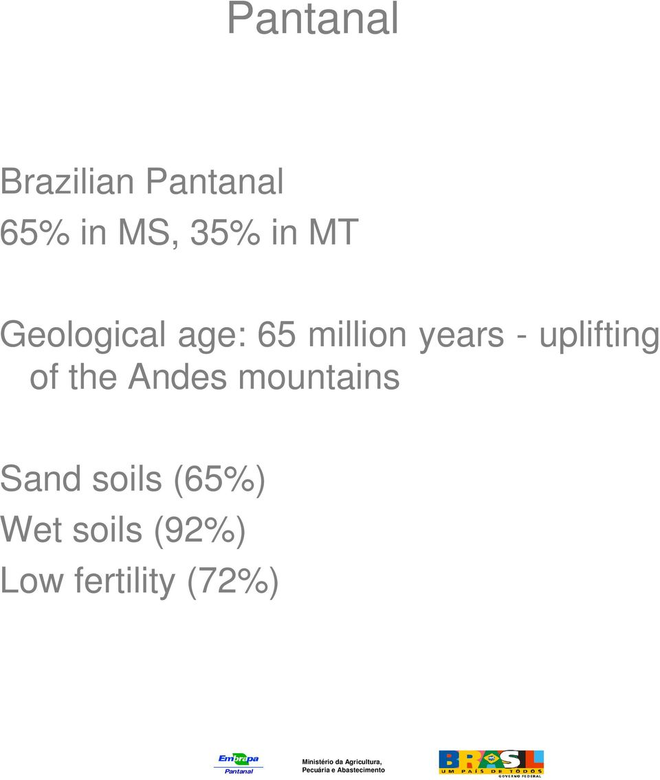 uplifting of the Andes mountains Sand