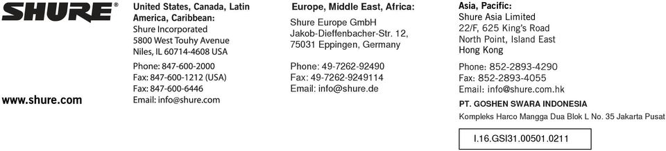 12, 75031 Eppngen, Germany Phone: 49-7262-92490 Fax: