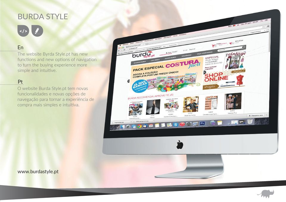 experience more simple and intuitive. O website Burda Style.