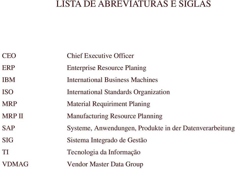 Organization Material Requiriment Planing Manufacturing Resource Planning Systeme, Anwendungen,