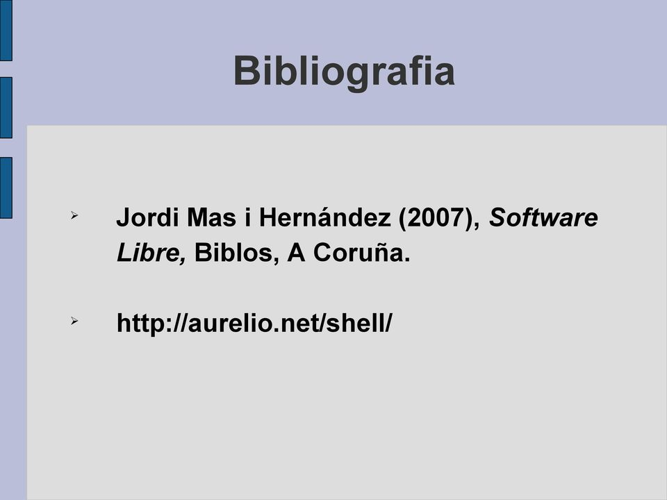 Software Libre, Biblos, A