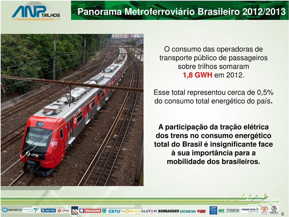 Esse total representou cerca de 0,5% do consumo total energético do país.
