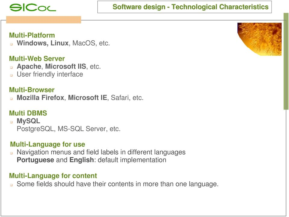 User friendly interface Multi-Browser Mozilla Firefox, Microsoft IE, Safari, etc.