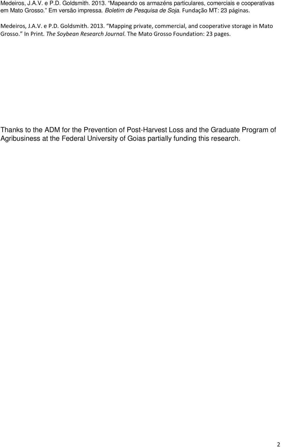 Program of Agribusiness at the Federal