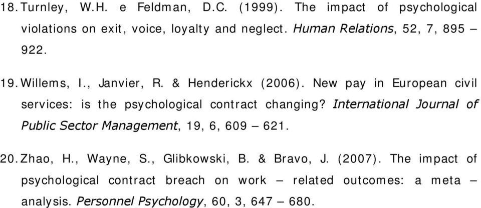 New pay in European civil services: is the psychological contract changing?
