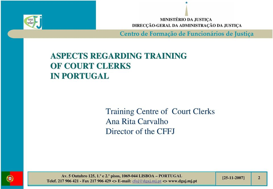 Training Centre of Court Clerks