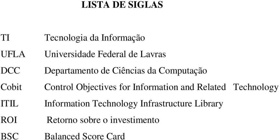 Control Objectives for Information and Related Technology Information