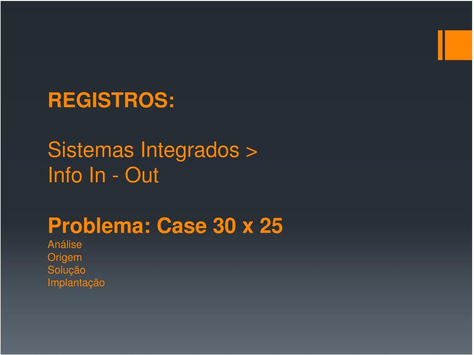 Out Problema: Case 30 x
