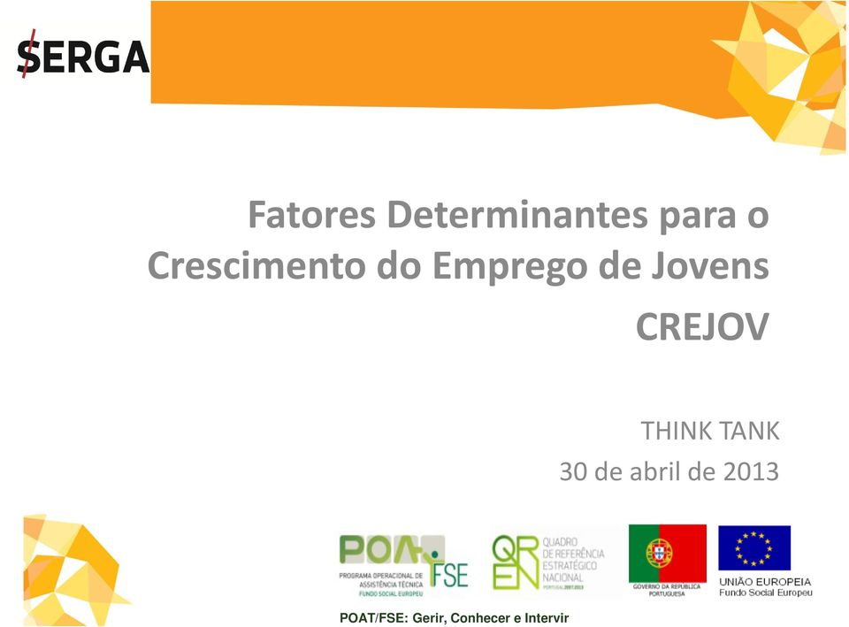 CREJOV THINK TANK 30 de abril de