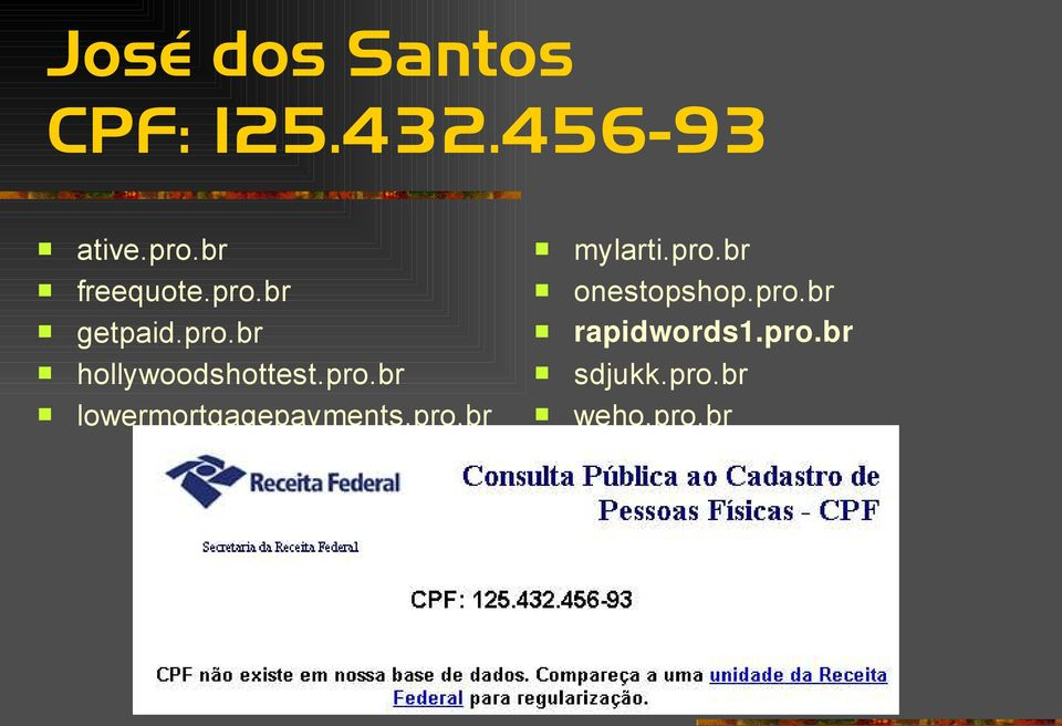 pro.br lowermortgagepayments.pro.br mylarti.pro.br onestopshop.