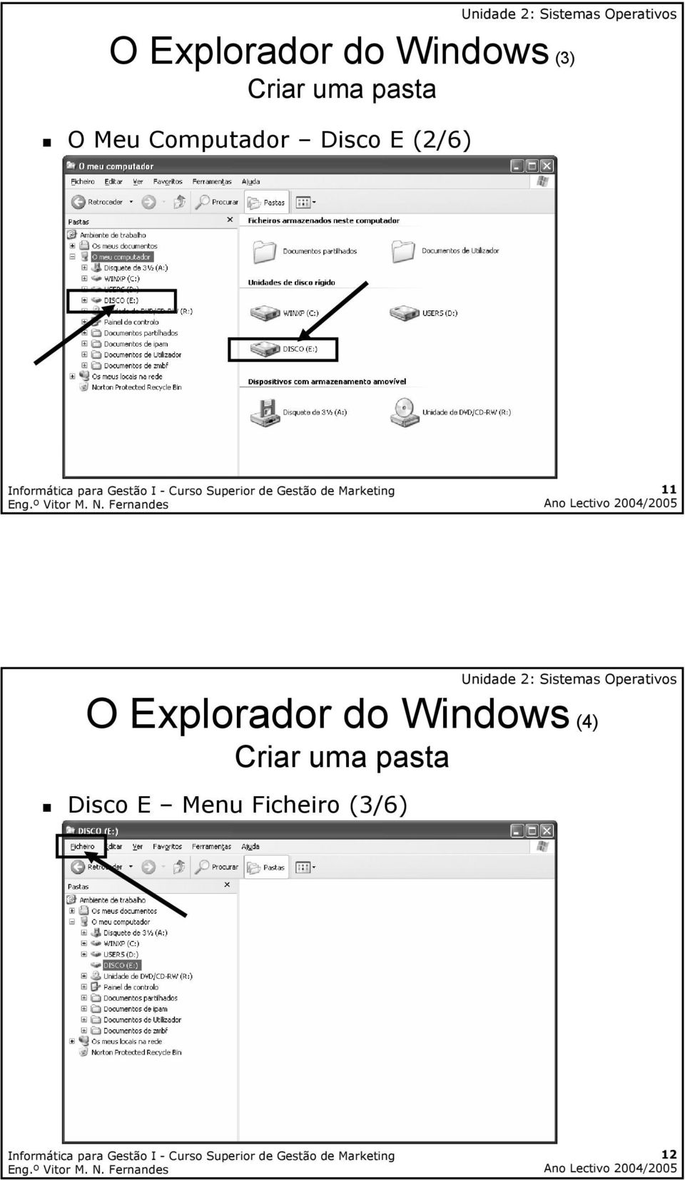 11 O Explorador do Windows (4) Criar