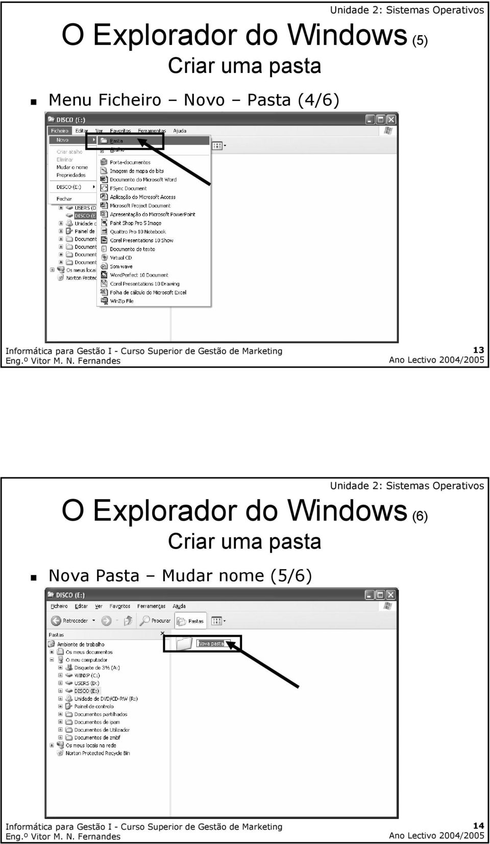 13 O Explorador do Windows (6) Criar