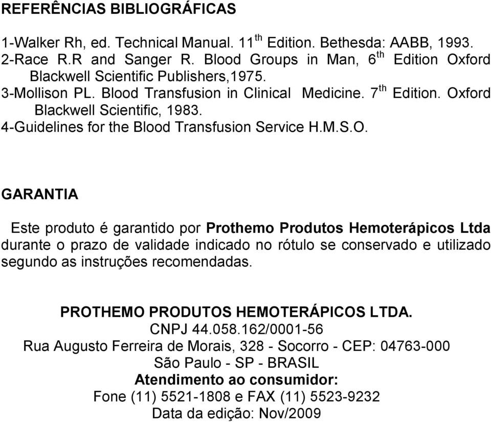 4-Guidelines for the Blood Transfusion Service H.M.S.O.