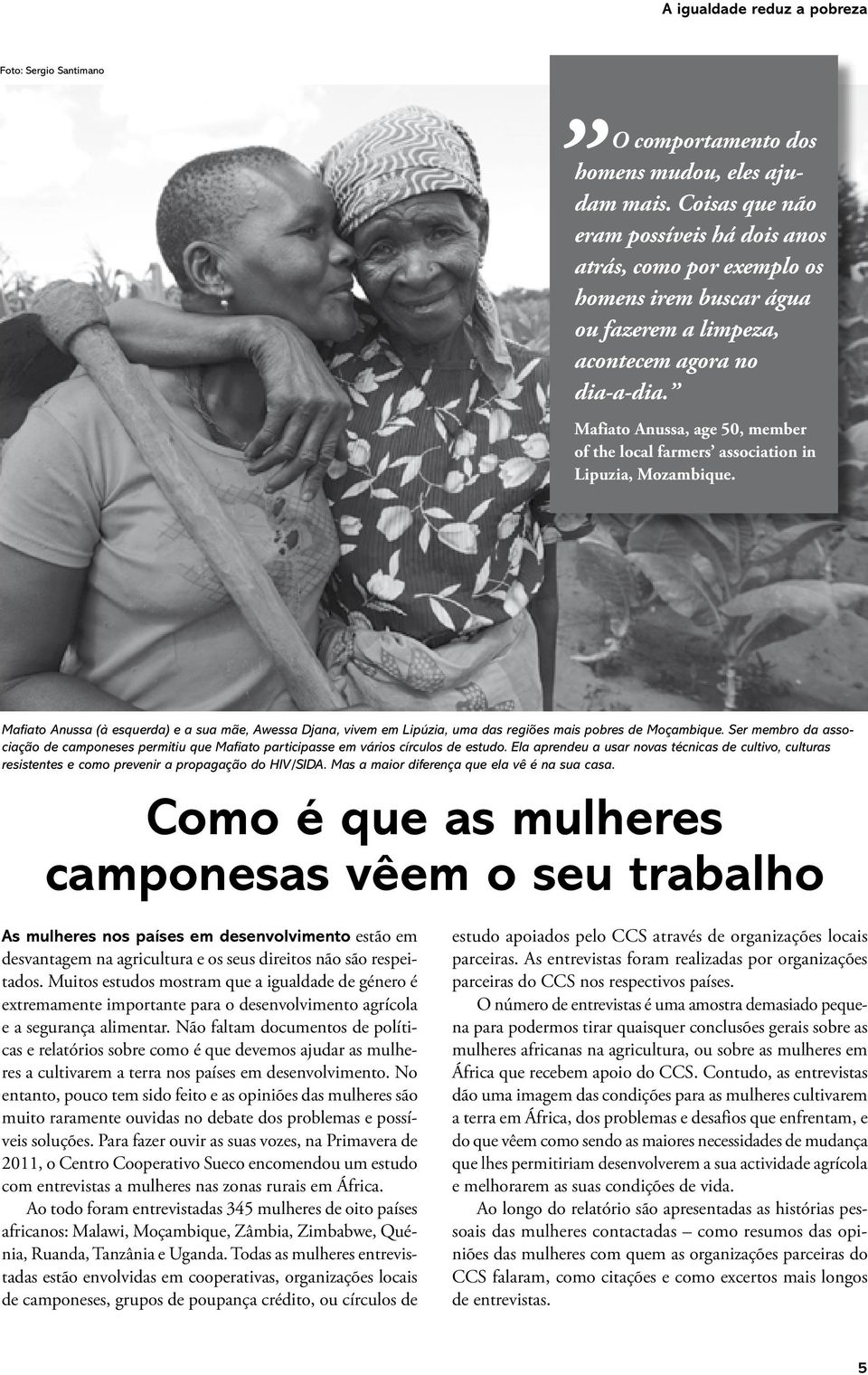 Mafiato Anussa, age 50, member of the local farmers association in Lipuzia, Mozambique.