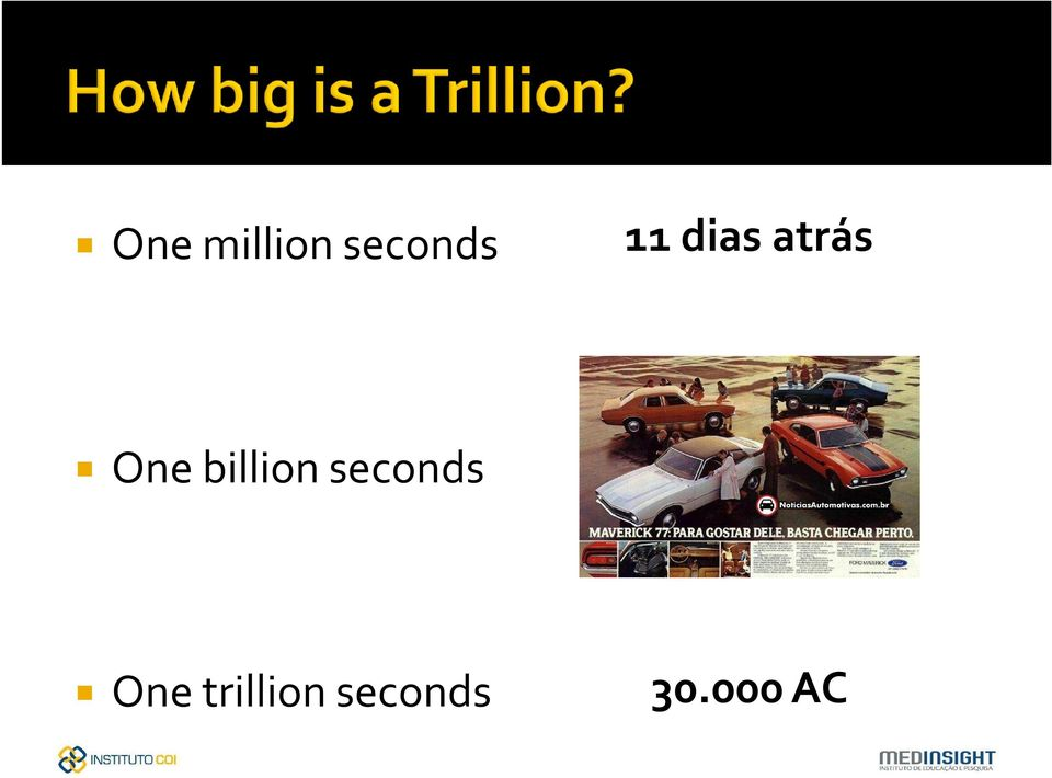 billion seconds One
