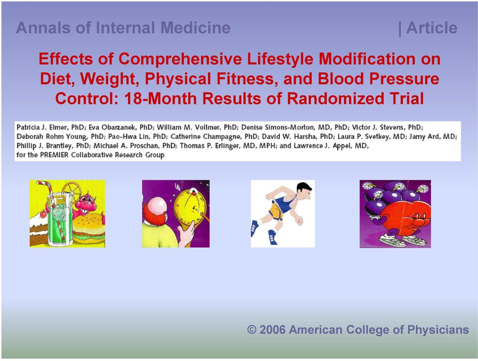 Physical Fitness, and Blood Pressure Control: 18-Month