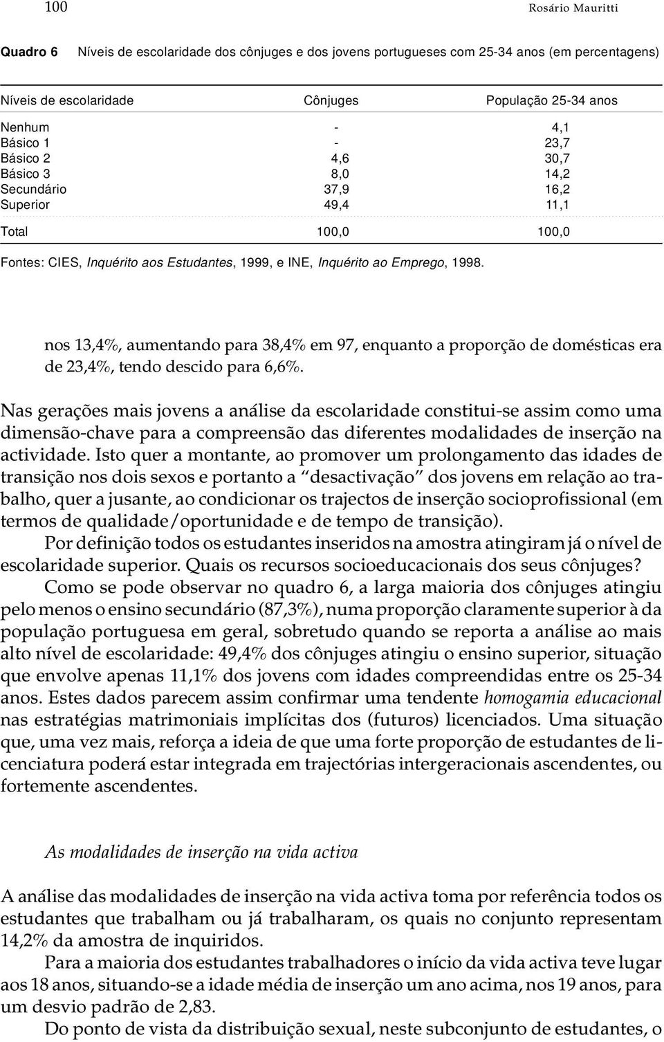 go, 1998. nos 13,4%, au men tan do para 38,4% em 97, en quan to a pro por ção de do més ti cas era de 23,4%, ten do des ci do para 6,6%.