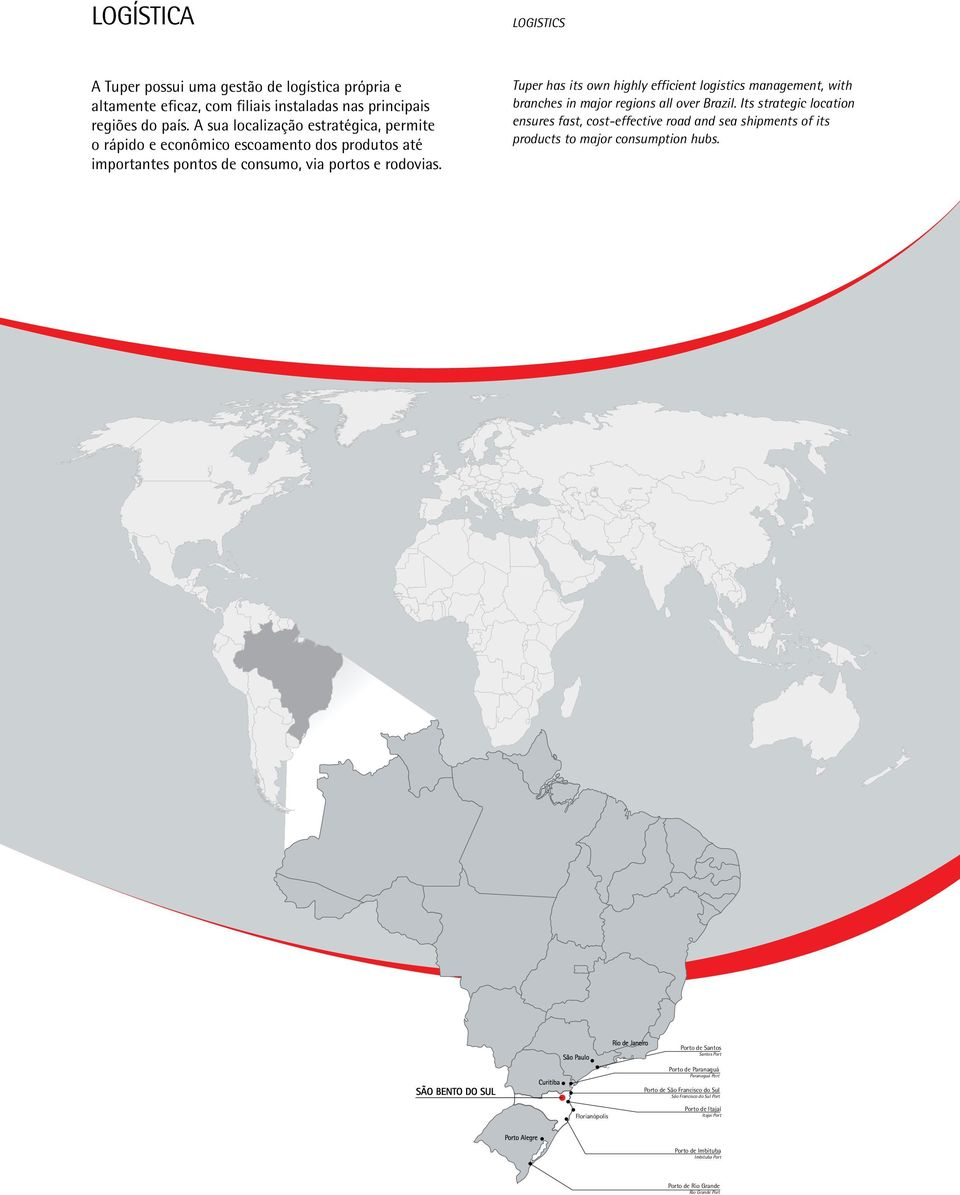 tuper has its own highly efficient logistics management, with branches in major regions all over brazil.